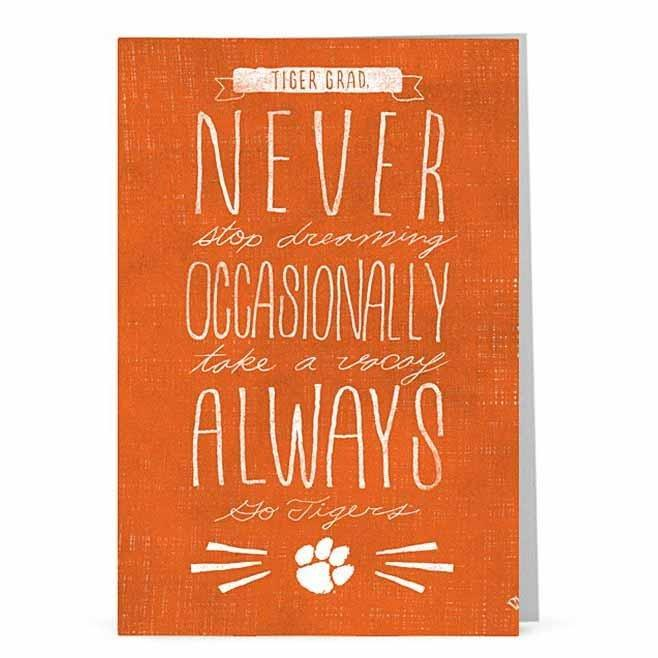 Always Go Tigers Graduation Greeting Card - Mr. Knickerbocker