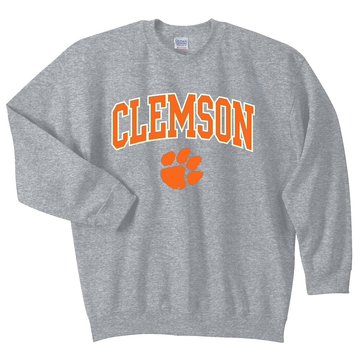 Clemson Tigers Toddler Crew Neck Sweater With Arch Over Paw
