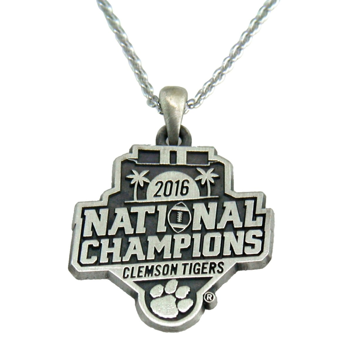 Argent Sport Clemson Tigers 2016 National Champions Gold Tone Charm Necklace - Mr. Knickerbocker