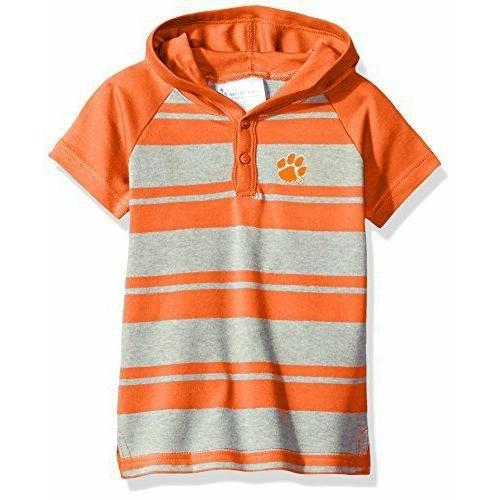 Atlanta Hosiery Clemson Tigers Short Sleeve Hooded Shirt - Mr. Knickerbocker