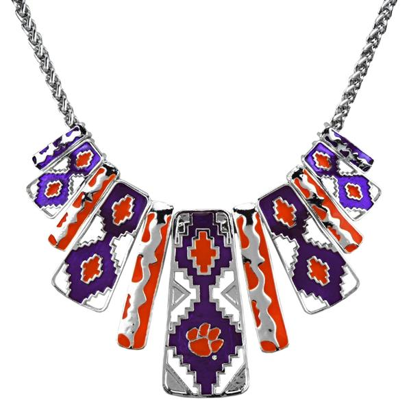 Aztec Necklace - Orange / Purple - Mr. Knickerbocker