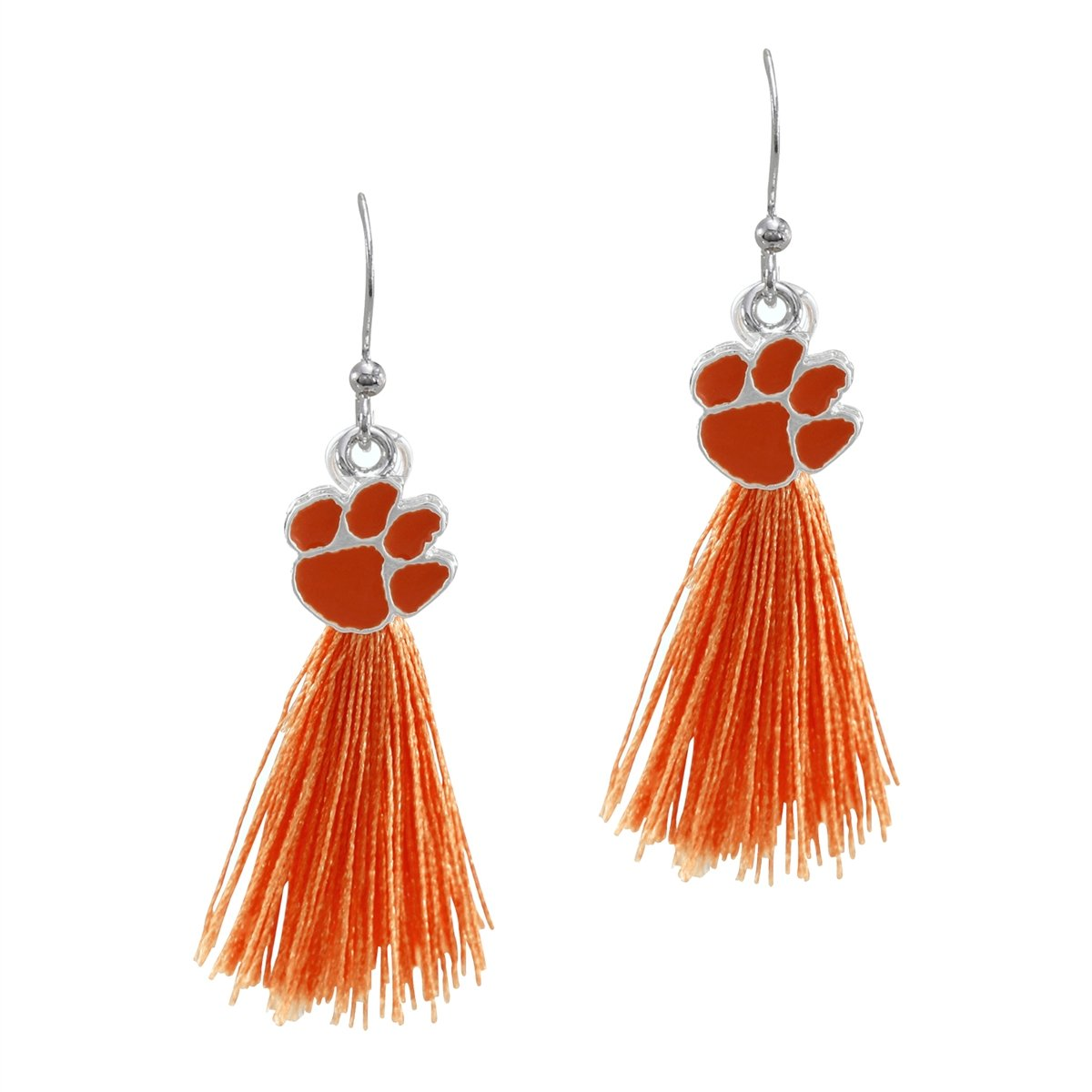 Bambi Tassel Charm Earrings With Orange Tassels and Paw - Mr. Knickerbocker