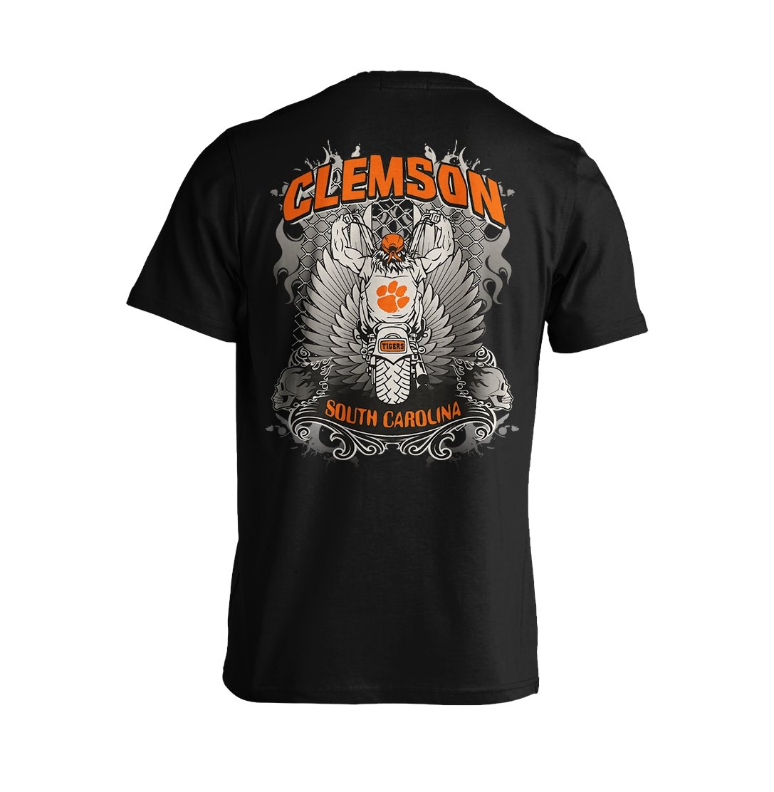 Biker Tee With Orange Paw - Mr. Knickerbocker