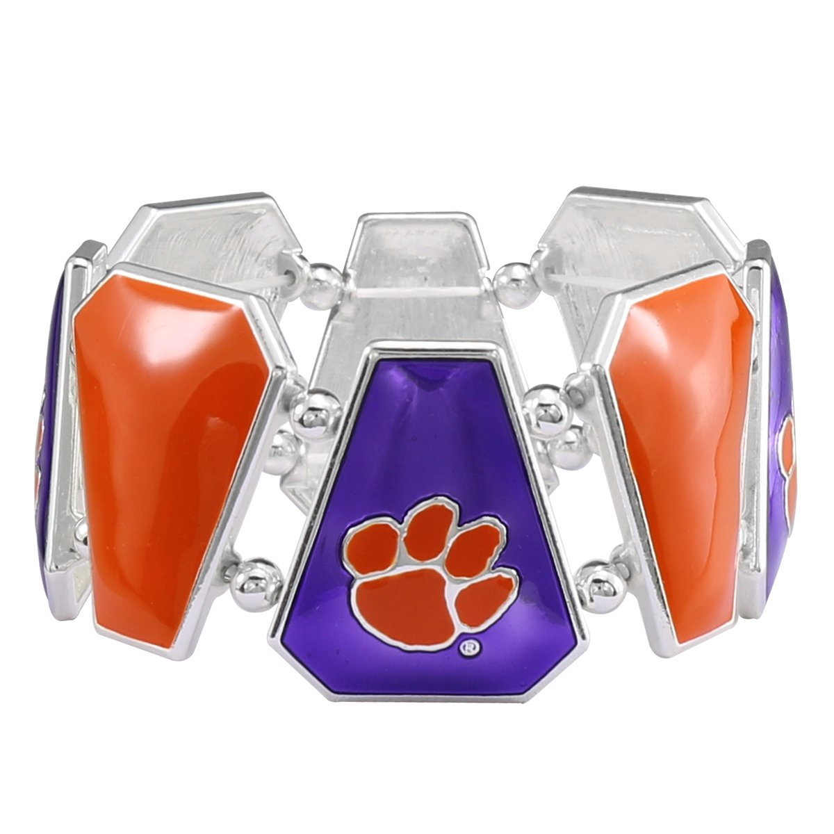 Bonita Bracelet - Orange/purple With Paws - Mr. Knickerbocker