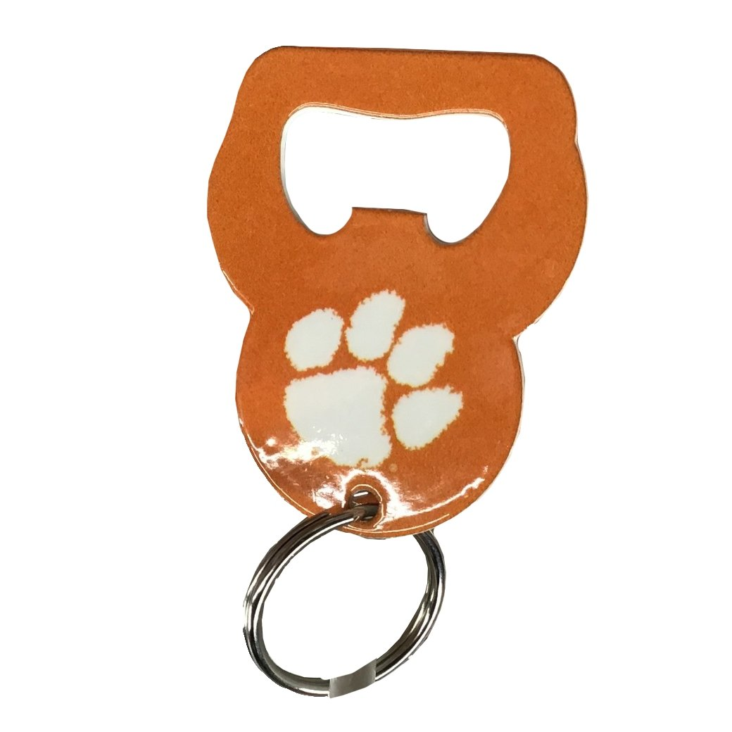 Bottle Opener Keychain Orange With White Paw - Mr. Knickerbocker