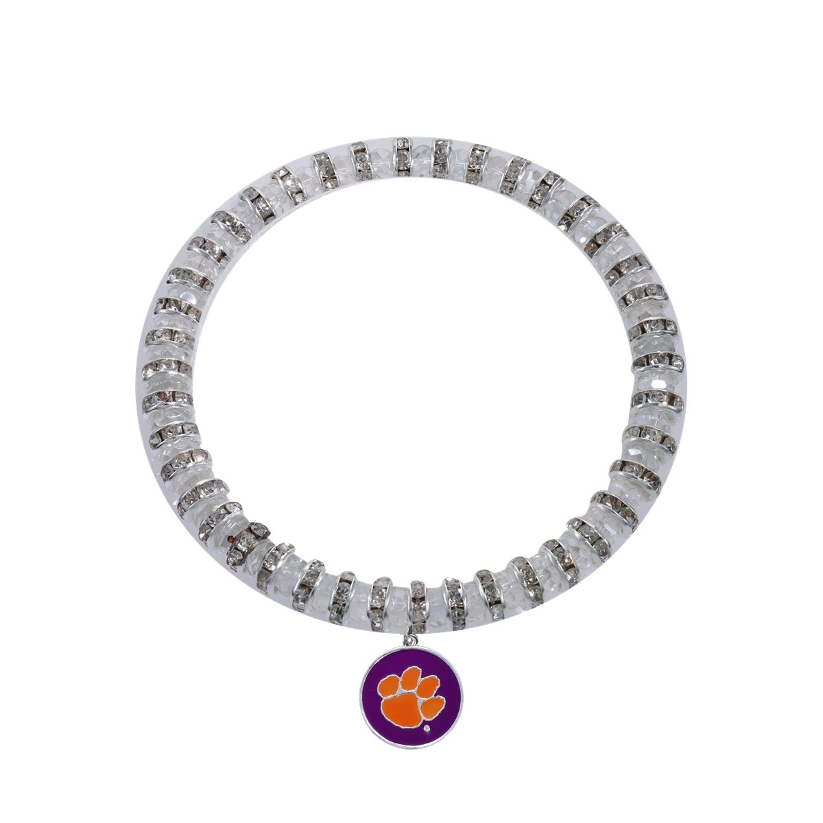 Burks Pendant Bracelet - Purple With Orange Paw - Mr. Knickerbocker