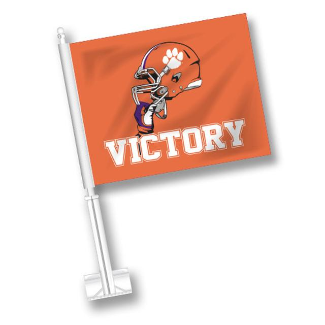Car Flag Football Helmet Victory - Orange - Mr. Knickerbocker