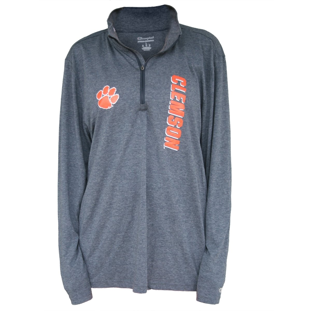 Champion 1/4 Zip Vertical Clemson & Paw - Mr. Knickerbocker