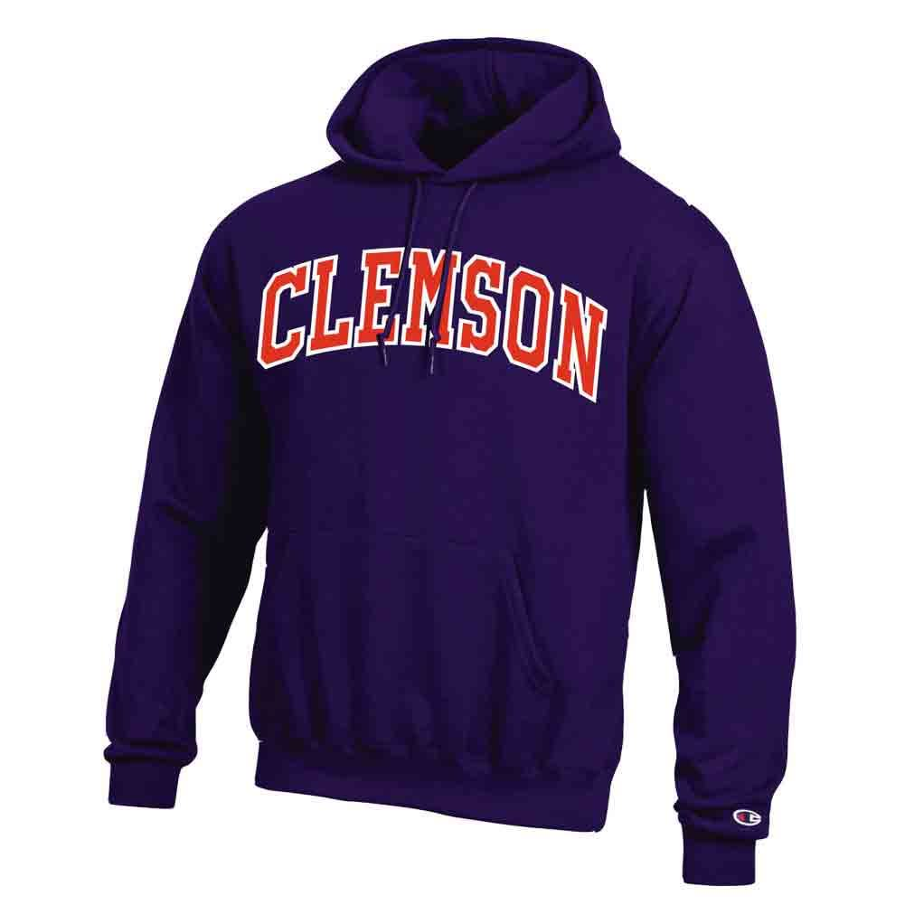 Champion Fleece Hoodie Tackle Twill Arch Clemson - Mr. Knickerbocker