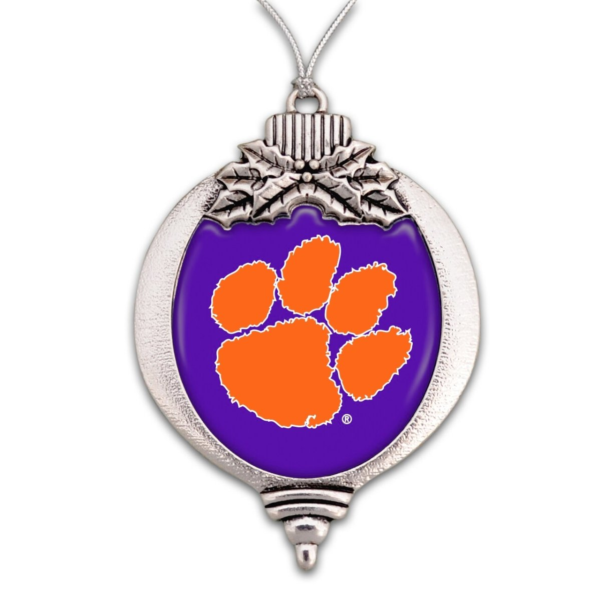 Christmas Ornament Bulb Purple With Orange Paw - Mr. Knickerbocker