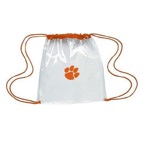 Clear Gameday Drawstring Backpack With Orange Paw - Mr. Knickerbocker