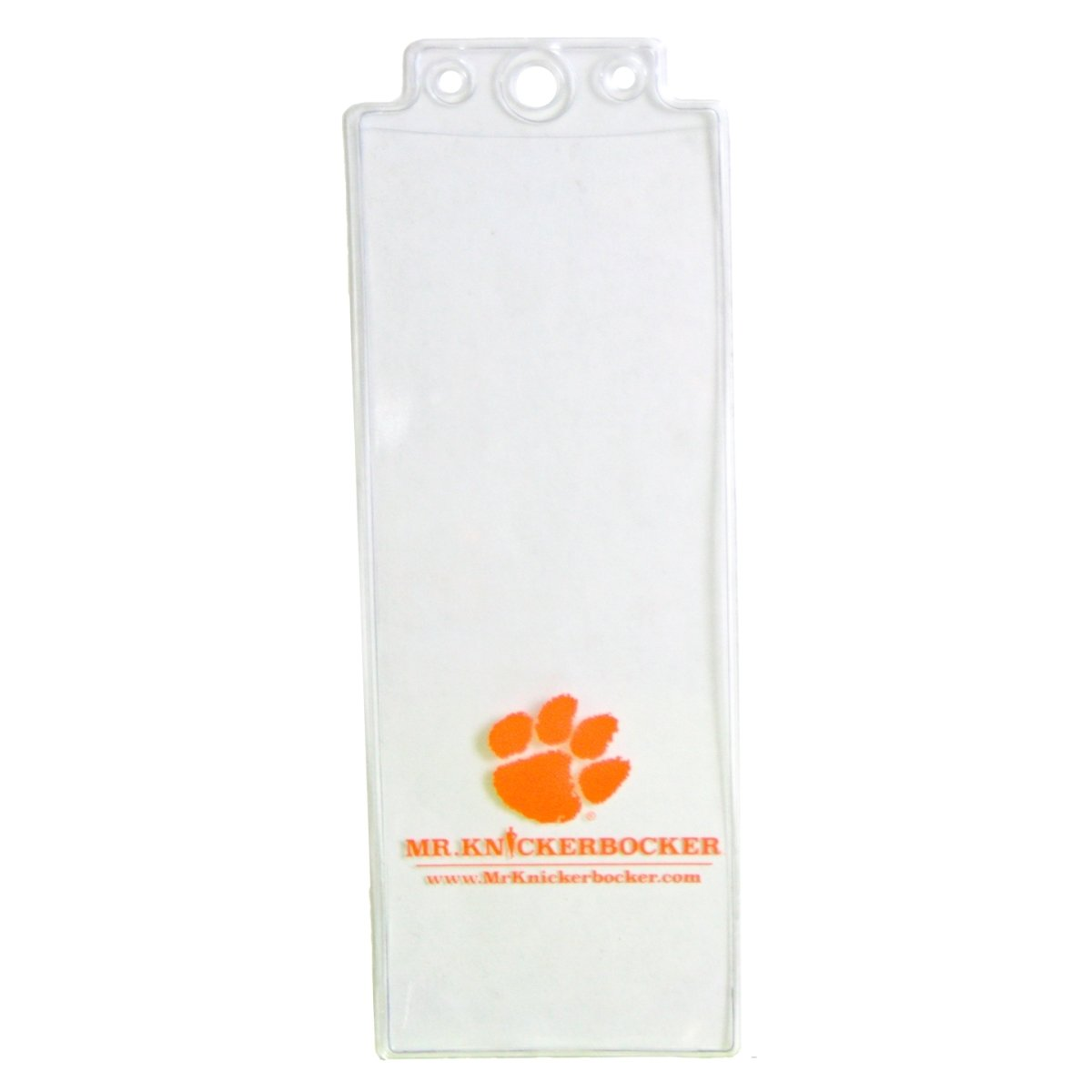 Clear Ticket Holder With Mr K Logo - Mr. Knickerbocker
