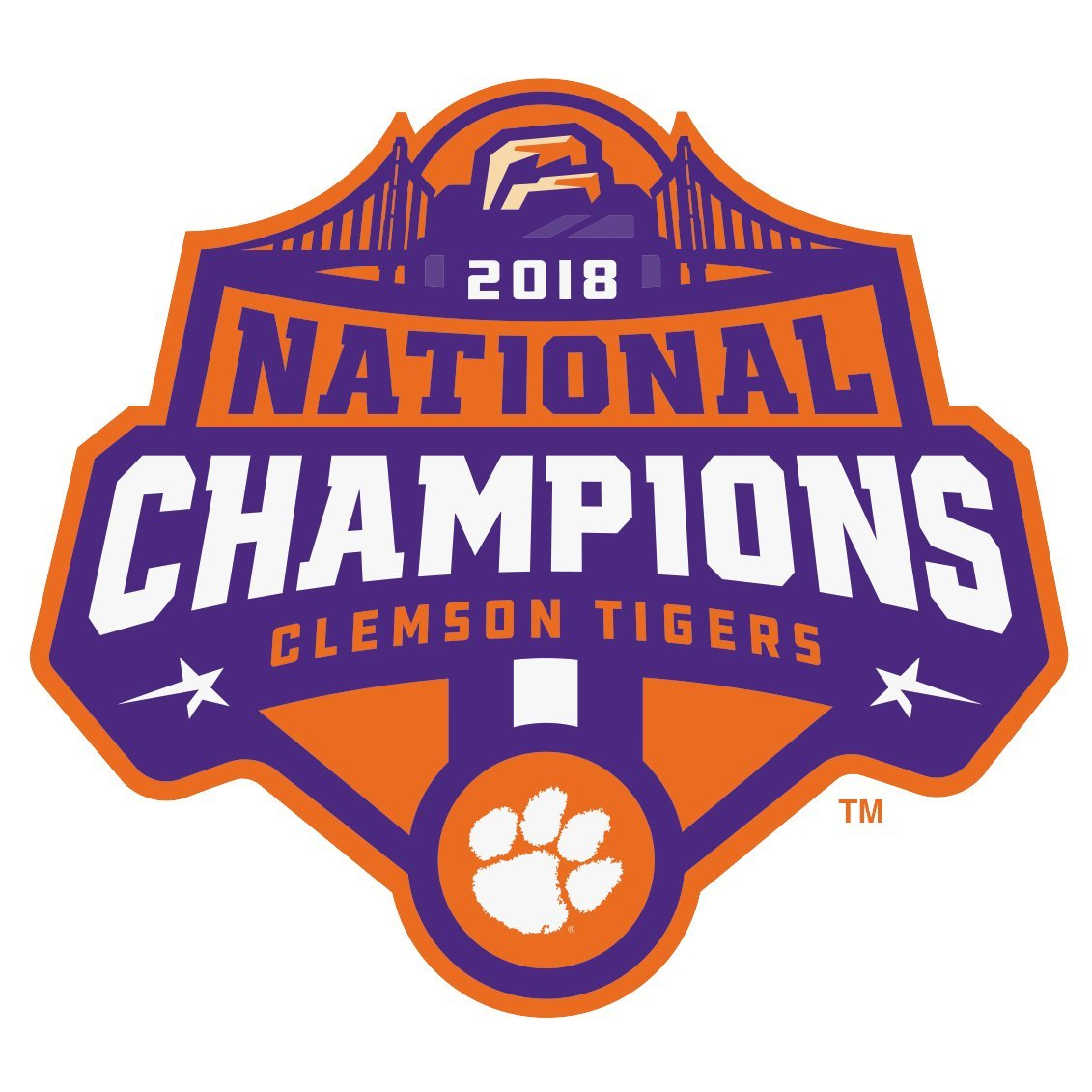 Clemson 2019 College Football Champions Small Static Cling - Mr. Knickerbocker