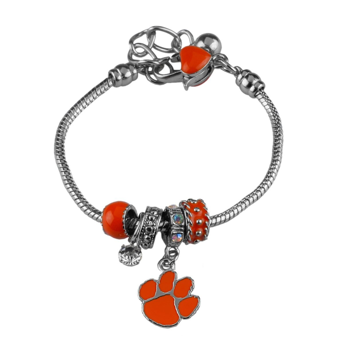 Clemson Beaded Charm Bracelet - Mr. Knickerbocker