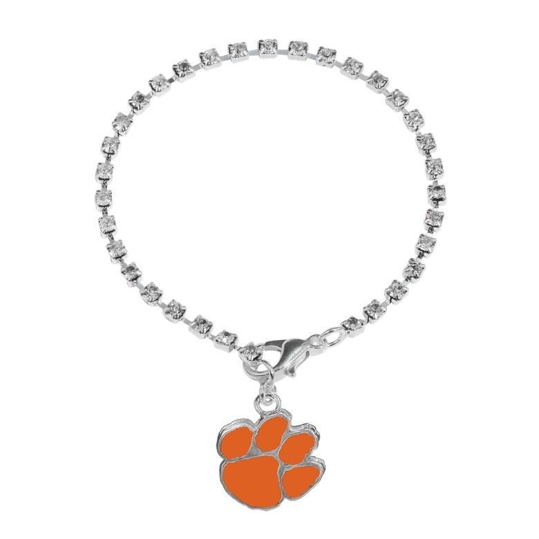 Clemson Crystal Logo Linked Bracelet - Mr. Knickerbocker