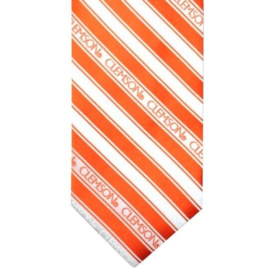 Clemson Legacy Striped Neck Tie - Mr. Knickerbocker