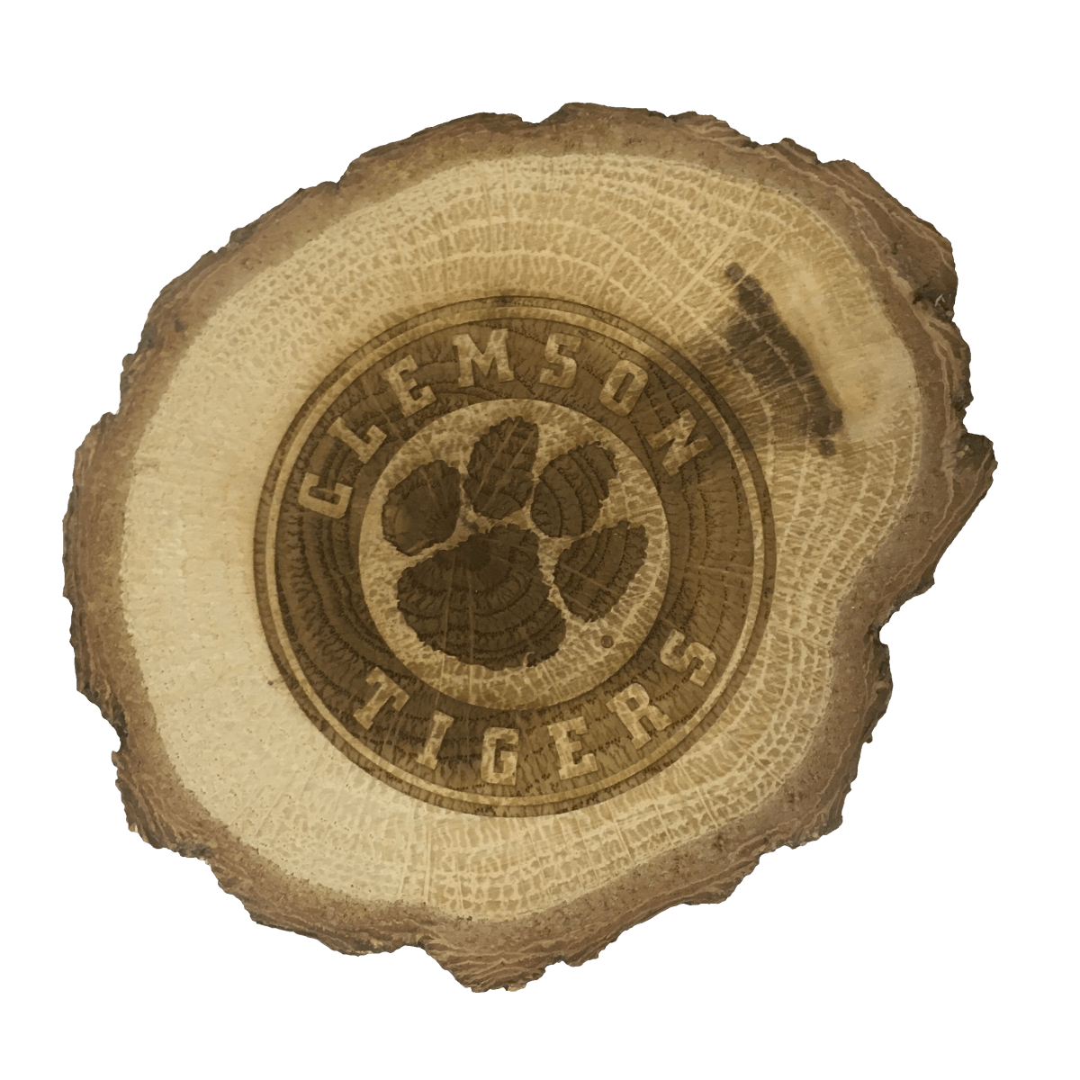 Clemson Magnet Wood Slice - Mr. Knickerbocker