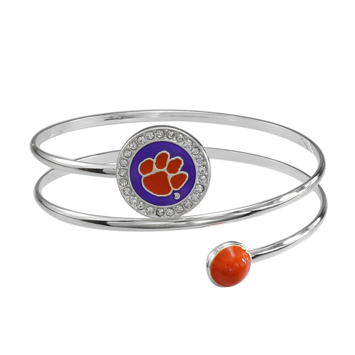 Clemson Metal Coil Bracelet - Mr. Knickerbocker