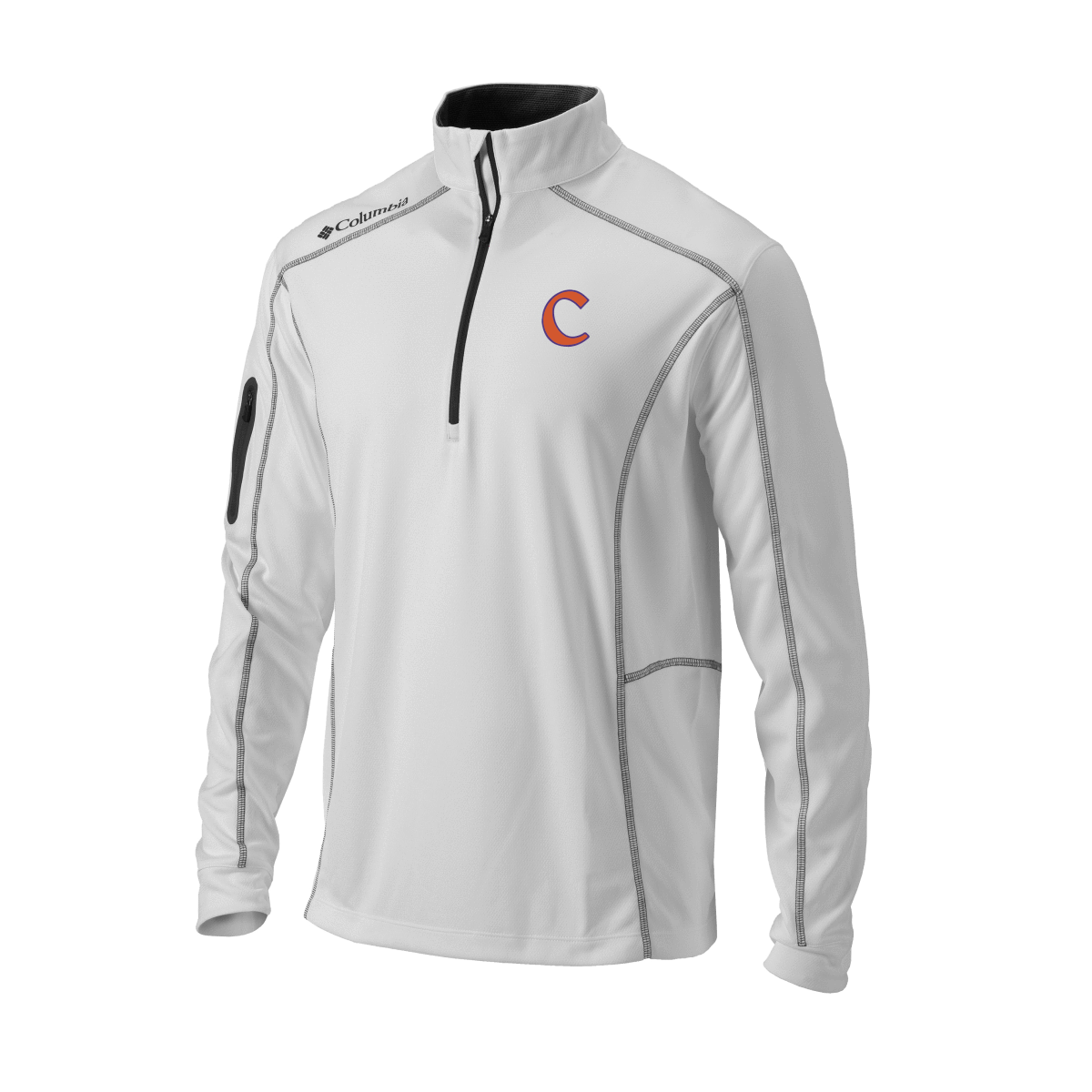 Clemson Omni-Wick Shotgun 1/4 Zip Pullover with Baseball C - Mr. Knickerbocker