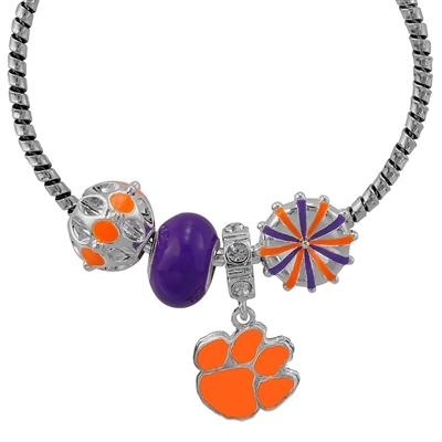 Clemson Open Ended Charm Bracelet - Mr. Knickerbocker