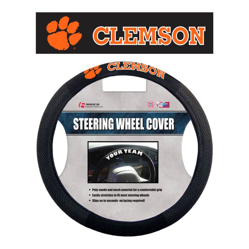 Clemson Polysuede Steering Wheel Cover - Mr. Knickerbocker