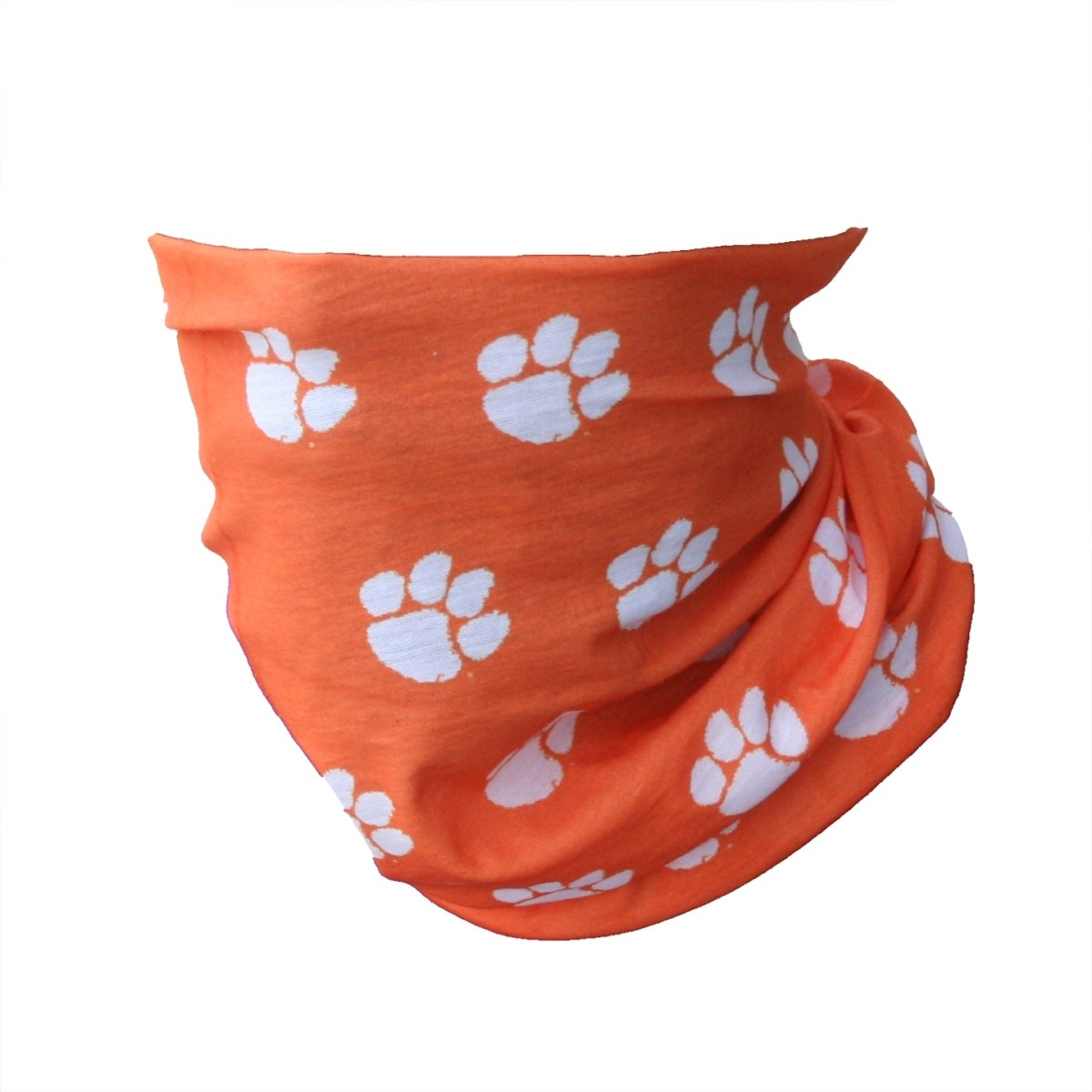 Clemson Repeating Paw Face Shield - Mr. Knickerbocker