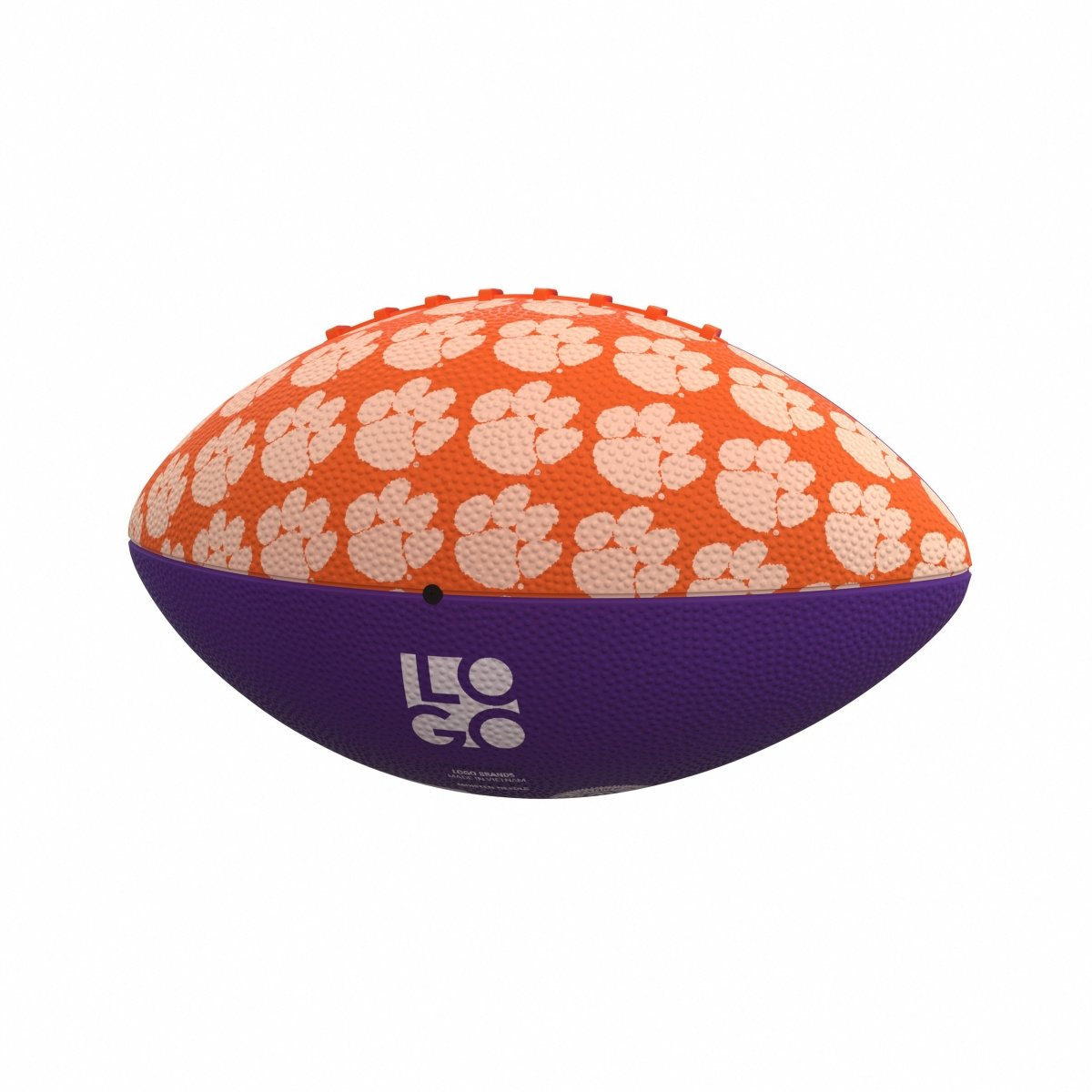 Clemson Repeating Paw Mini Rubber Football - Mr. Knickerbocker