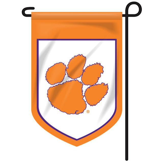 Clemson Shield Garden Flag - Mr. Knickerbocker