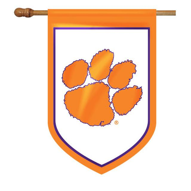 Clemson Shield House Flag - Football 28''x40'' - Mr. Knickerbocker