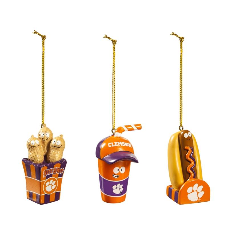 Clemson Snack Pack Ornament Set - Mr. Knickerbocker