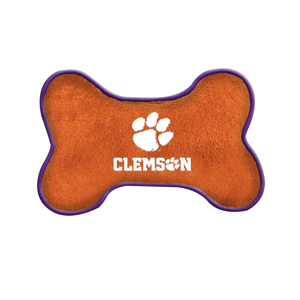 Clemson Tiger Bone Squeaky Toy - Mr. Knickerbocker