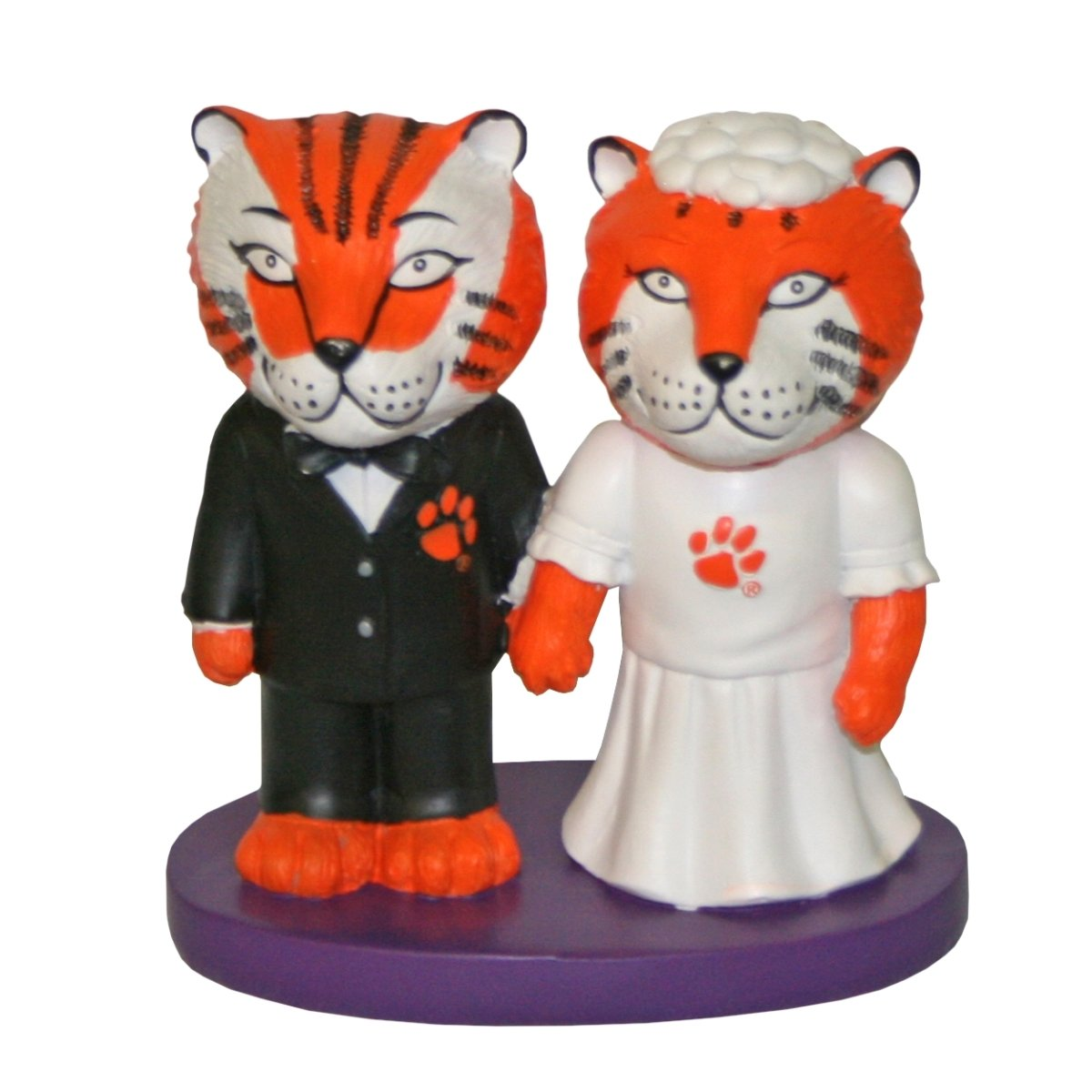 Clemson Tiger Bride/groom Wedding Cake Topper - Mr. Knickerbocker