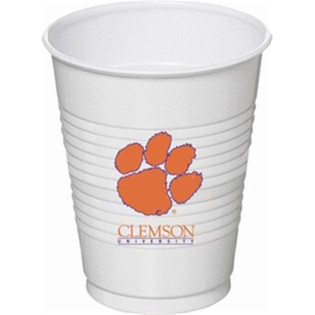 Clemson Tigers 16oz Plastic Cups 8-Count - Mr. Knickerbocker