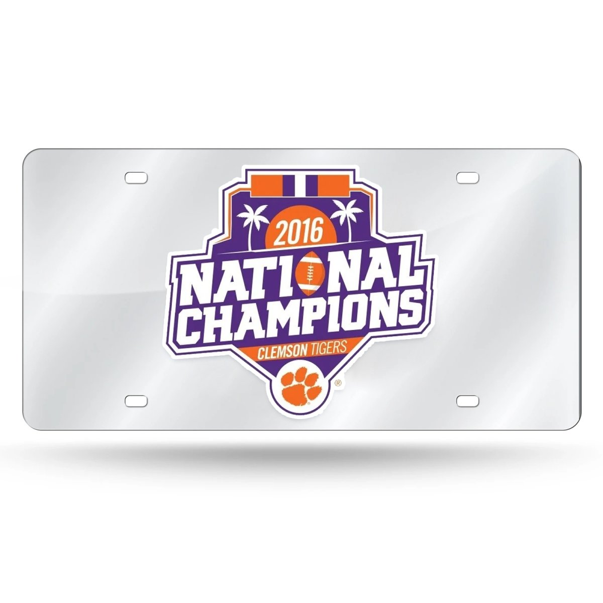 Clemson Tigers 2016 Metallic National Champ License Tag - Mr. Knickerbocker