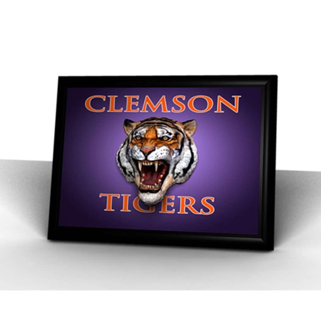 Clemson Tigers 3D Printed Tiger Relief Plaque - Mr. Knickerbocker