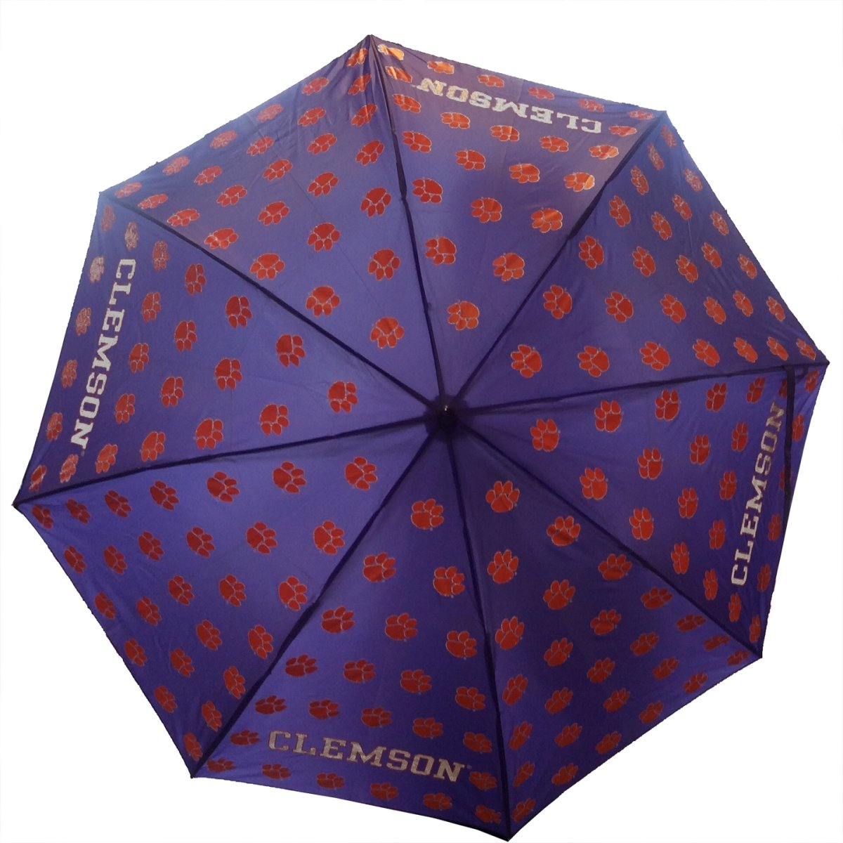 "Clemson Tigers 48"" All-over Paw Umbrella - Mr. Knickerbocker"