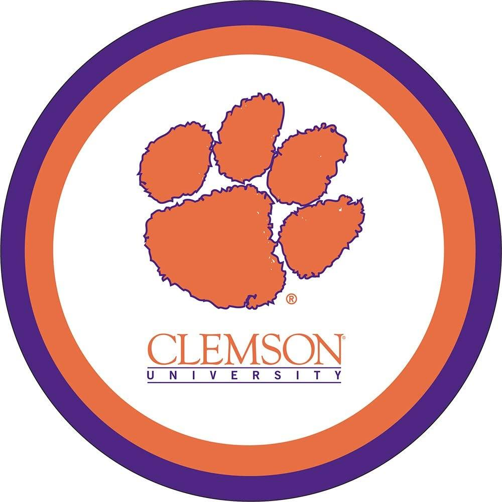 "Clemson Tigers 7"" Dessert Plate 12-Count - Mr. Knickerbocker"