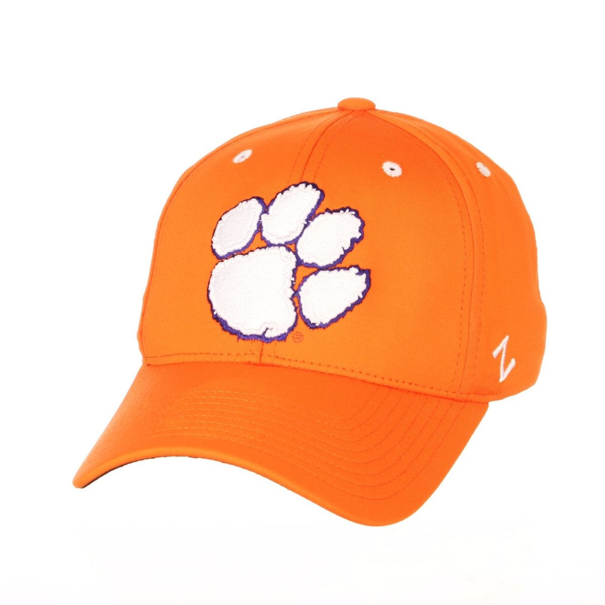 Clemson Tigers Albatross Classic Paw Print Stretch Baseball Cap - Orange - Mr. Knickerbocker
