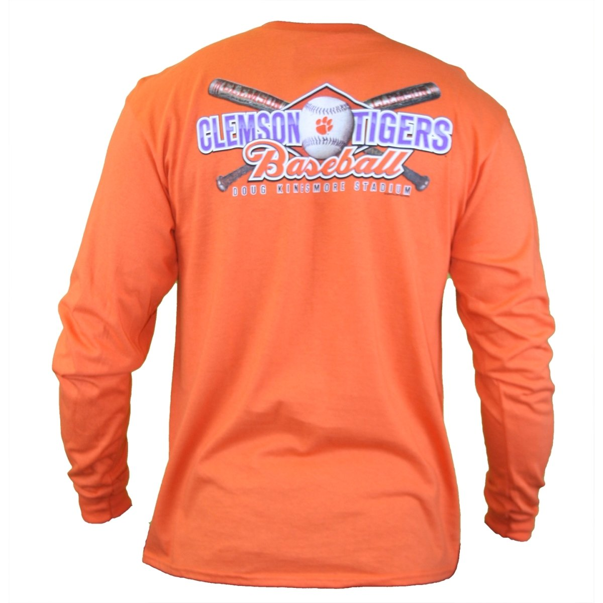 Clemson Tigers Baseball - Crossed Bats Long Sleeve T-shirt - Mr. Knickerbocker