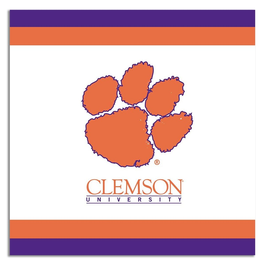 Clemson Tigers Beverage Napkins 24-Count - Mr. Knickerbocker