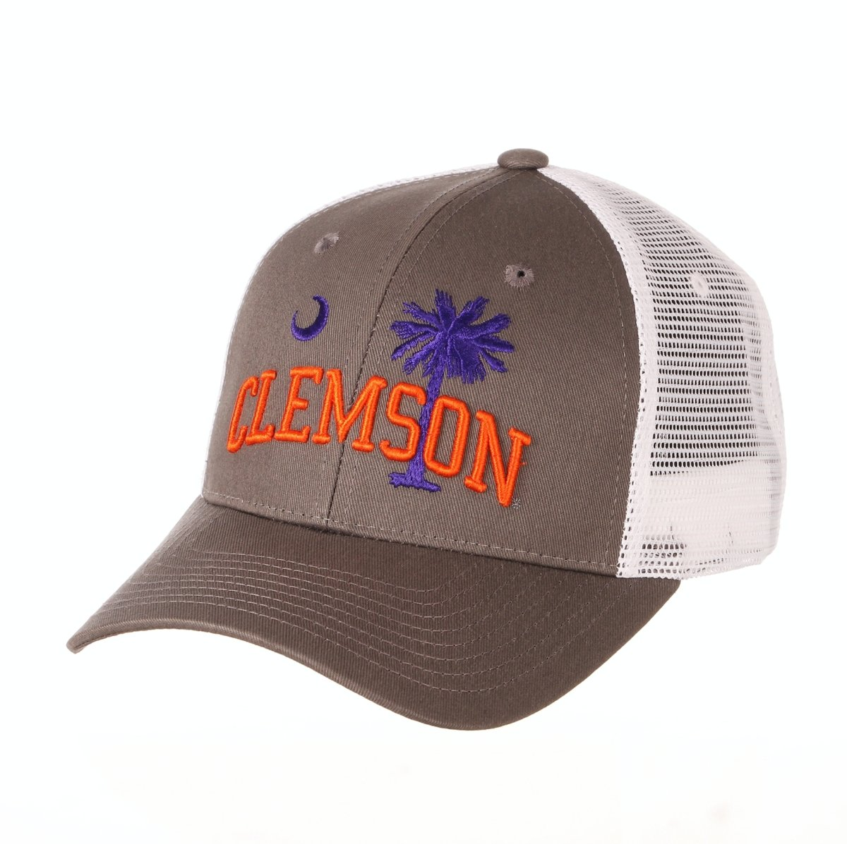 Clemson Tigers Big Rig Palmetto State Trucker Hat - Gray - Mr. Knickerbocker
