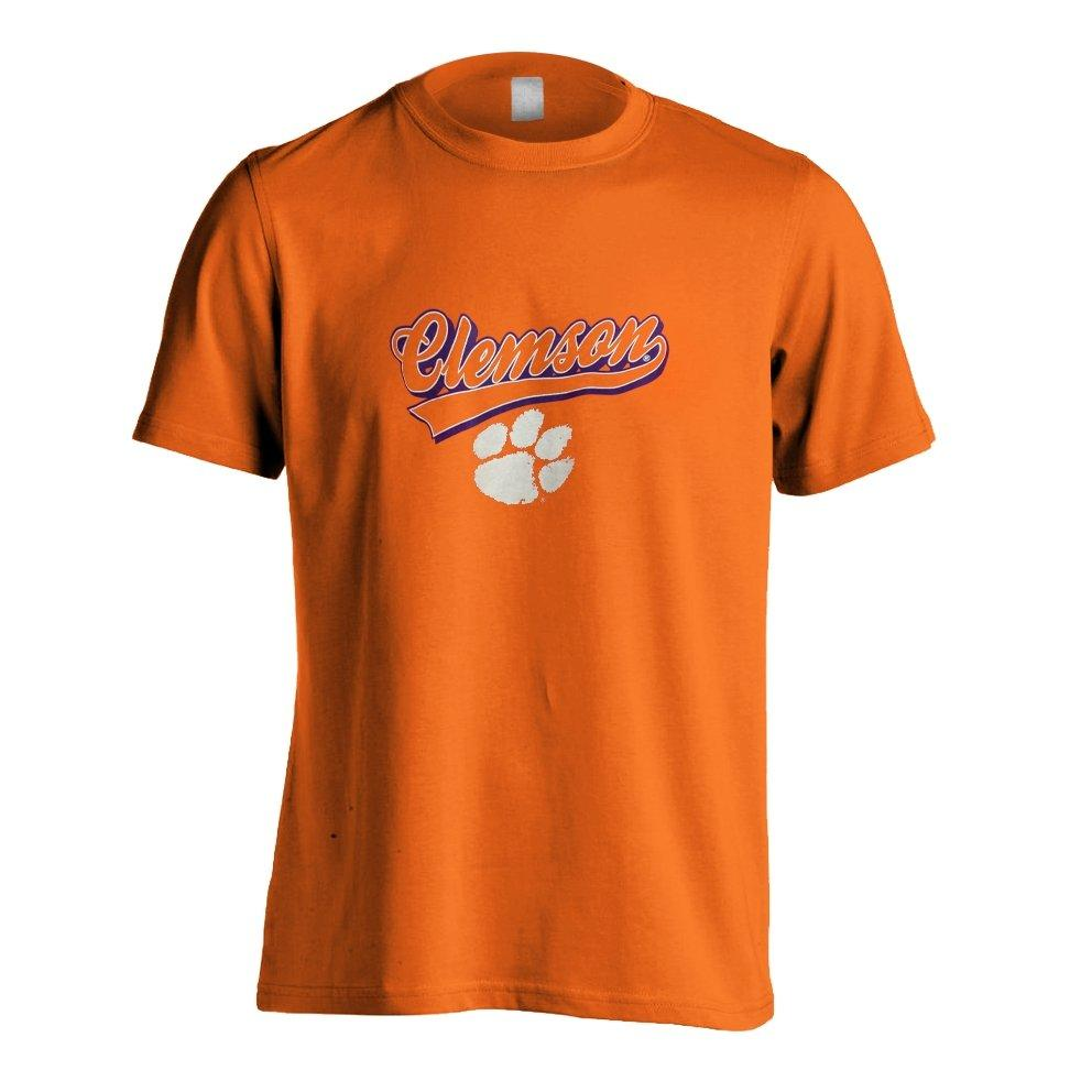 Clemson Tigers Classic Script Over White Paw - Mr. Knickerbocker