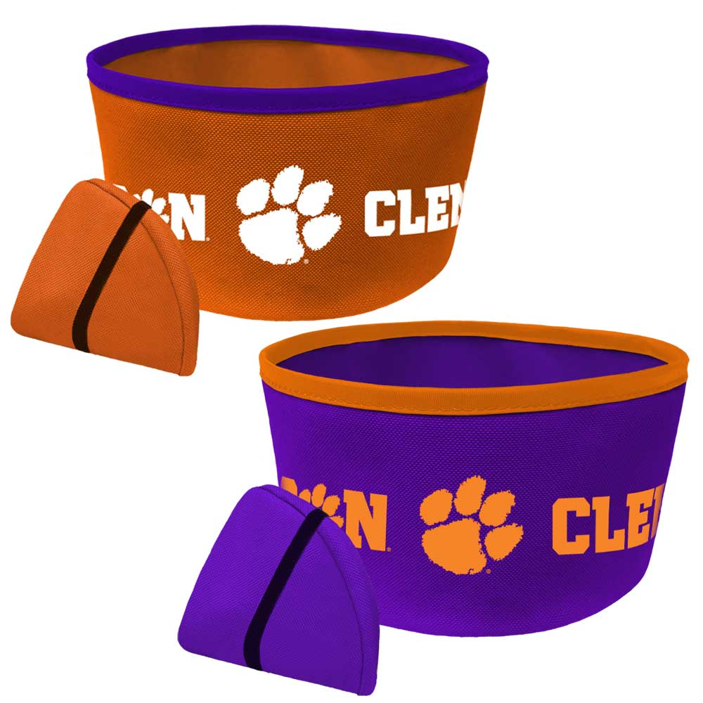 Clemson Tigers Collapsable Bowl - Mr. Knickerbocker