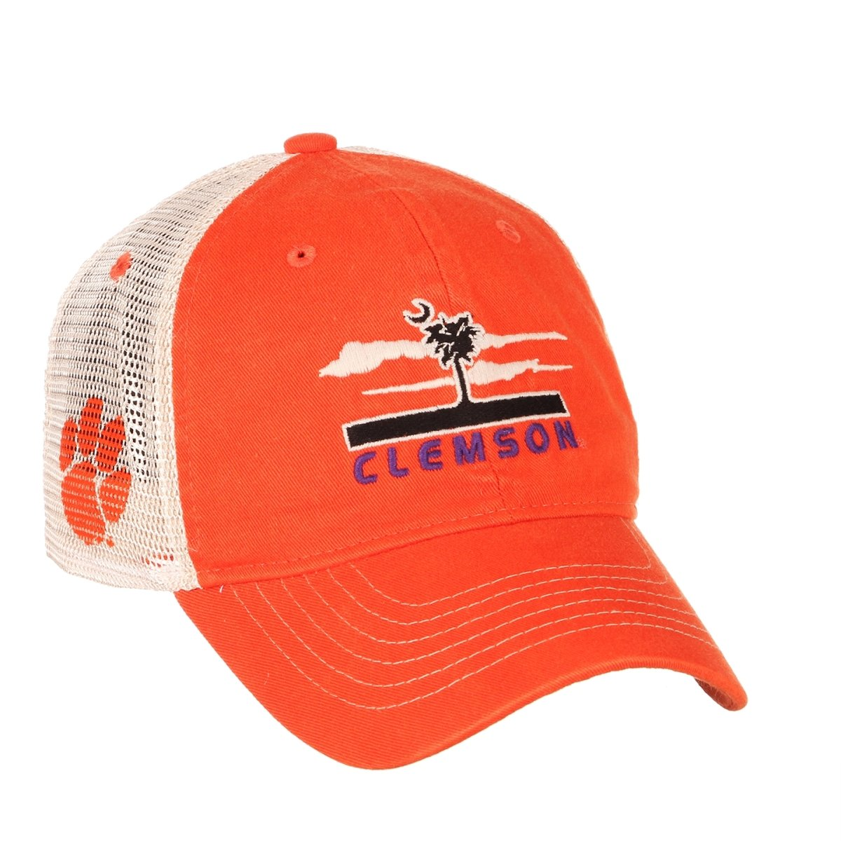 Clemson Tigers Destination Palmetto Tree Trucker Hat - Orange - Mr. Knickerbocker