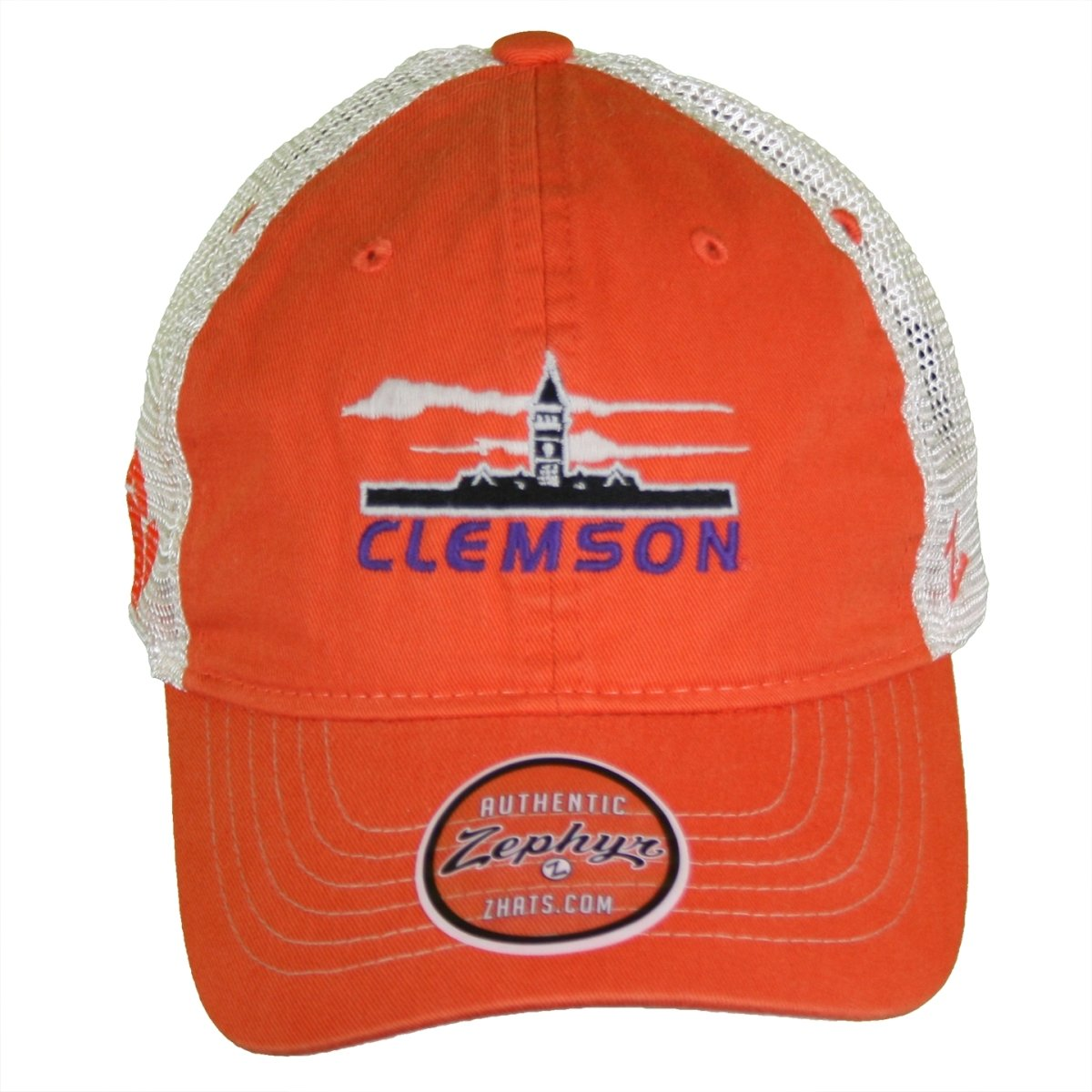 "Clemson Tigers Destination ""Tillman Hall"" Trucker Hat - Orange/Stone - Mr. Knickerbocker"