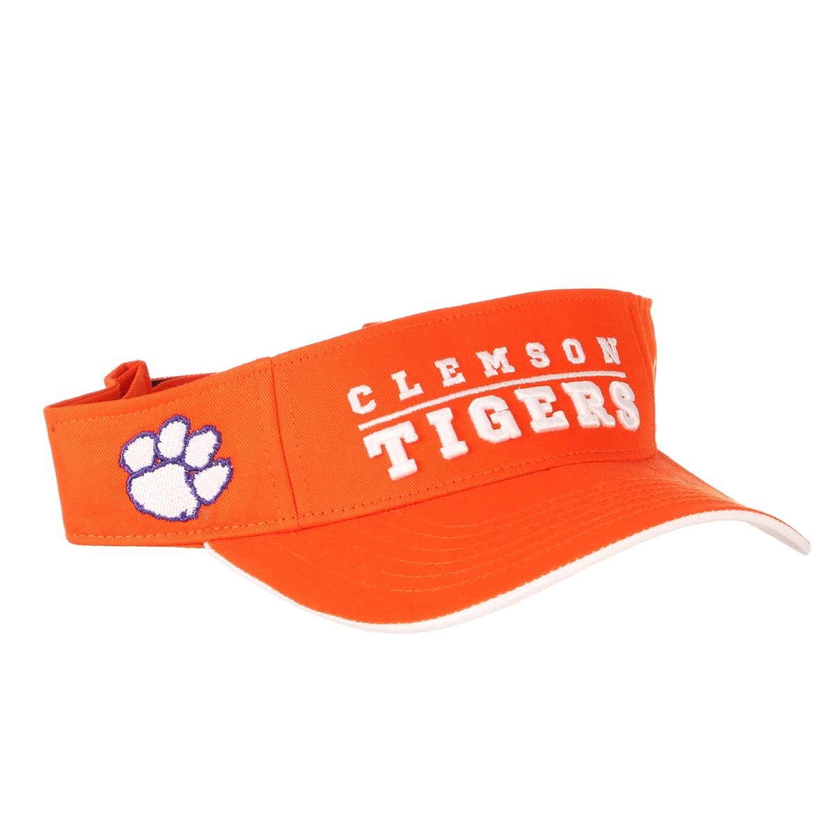 Clemson Tigers Gilmore Orange and White Adjustable Visor - Mr. Knickerbocker