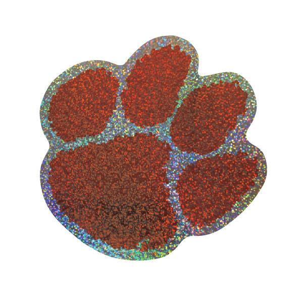 Clemson Tigers Holographic Paw Decal - Mr. Knickerbocker