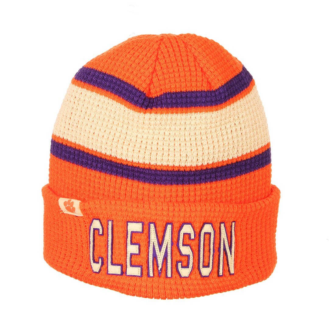 Clemson Tigers Legendary Stripe Knit Hat - Mr. Knickerbocker