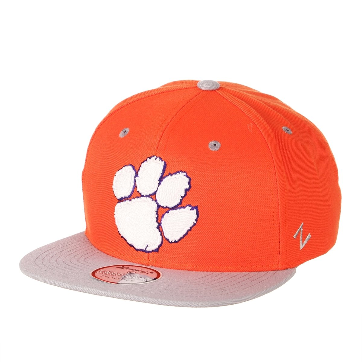 Clemson Tigers Orange Snapback Hat With Smoke Gray Bill - Mr. Knickerbocker