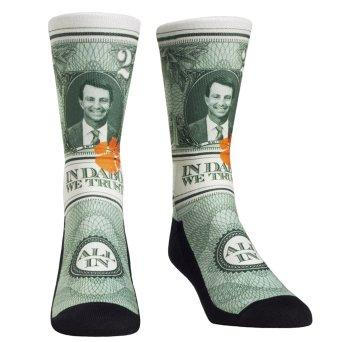 Clemson Tigers Rock Em Socks Youth $2 Bill Localized Graphics Crew Socks - Mr. Knickerbocker